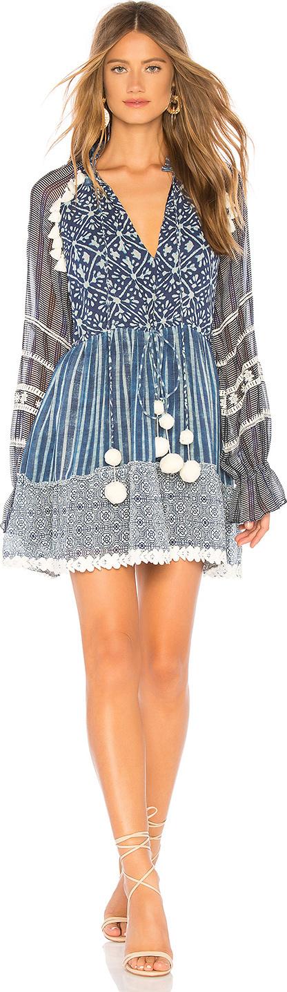 Hemant and Nandita Long Sleeve Short Dress