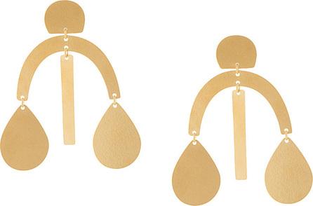 Annie Costello Brown Mini Arc Drop earrings