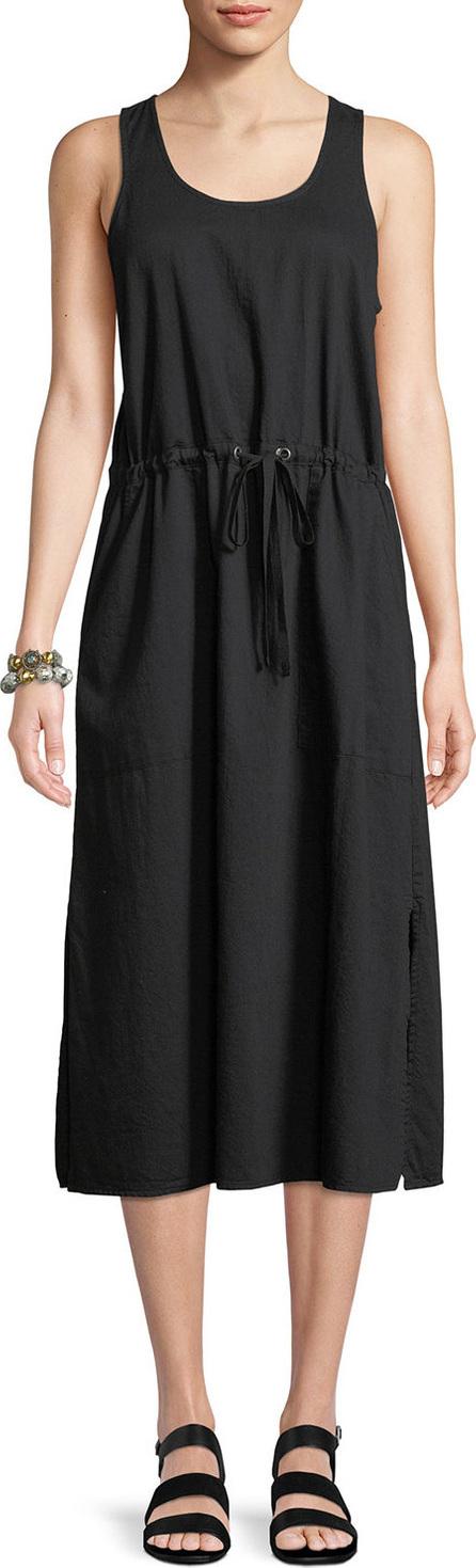 Soft Organic Cotton Twill Racerback Midi Dress
