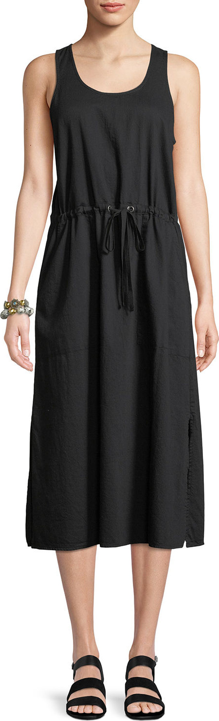 Eileen Fisher - Soft Organic Cotton Twill Racerback Midi Dress