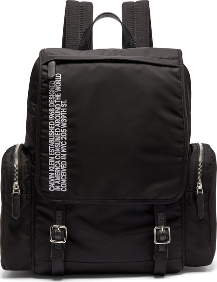 Calvin Klein 205W39NYC Logo-embroidered nylon backpack