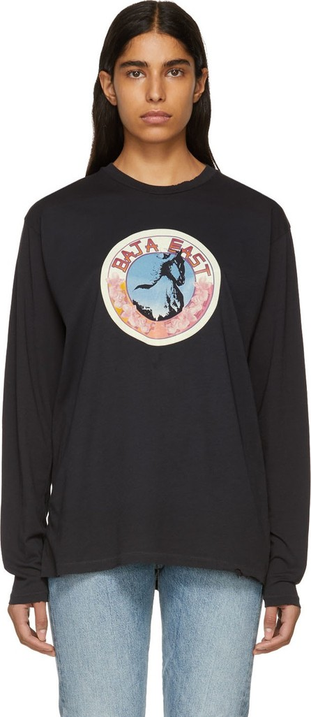 Baja East Black Stallion Medallion Long Sleeve T-Shirt