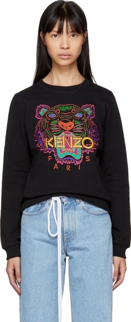 KENZO Black Limited Edition Holiday Tiger Sweatshirt