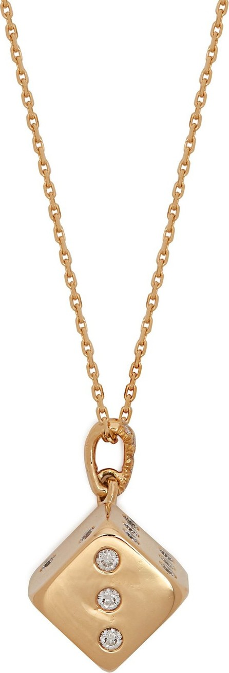 Aurelie Bidermann Fine Jewelry Dice damond & 18kt gold necklace