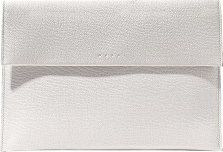 Marni Textured-leather clutch