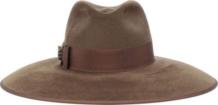 Gucci Embellished rabbit-felt hat