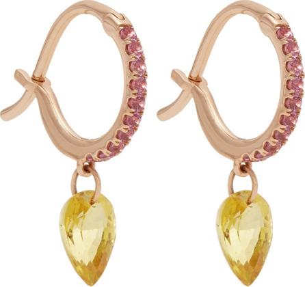 Raphaele Canot Set Free sapphire & rose-gold earrings s5mki3W8Xg