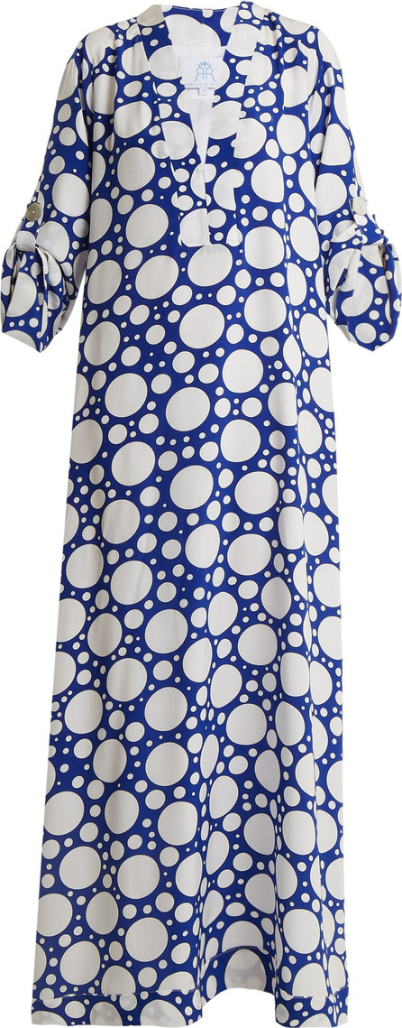 Rebecca de Ravenel Athena polka-dot print crepe de Chine dress