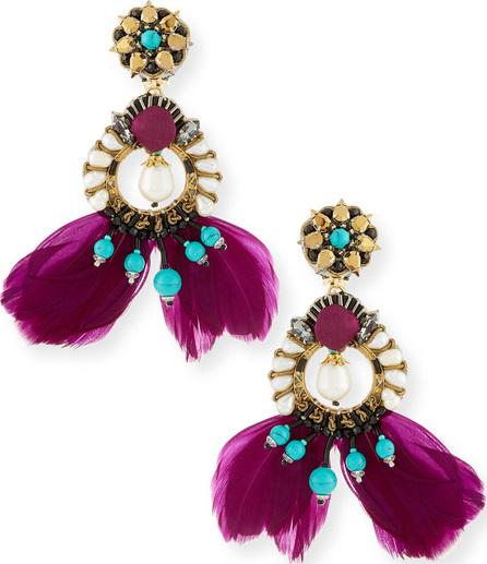 Ranjana Khan Meriti Feather Drop Clip-On Earrings