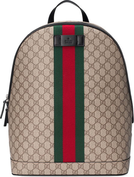 Gucci Men's GG Supreme Web Backpack with Laptop Sleeve