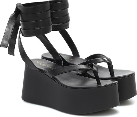 Gianvito Rossi Leather platform thong sandals