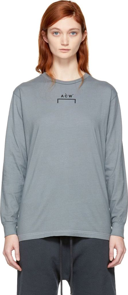 A-Cold-Wall* Grey Long Sleeve Signature B/1 T-Shirt