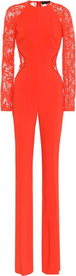 David Koma Cady and lace jumpsuit