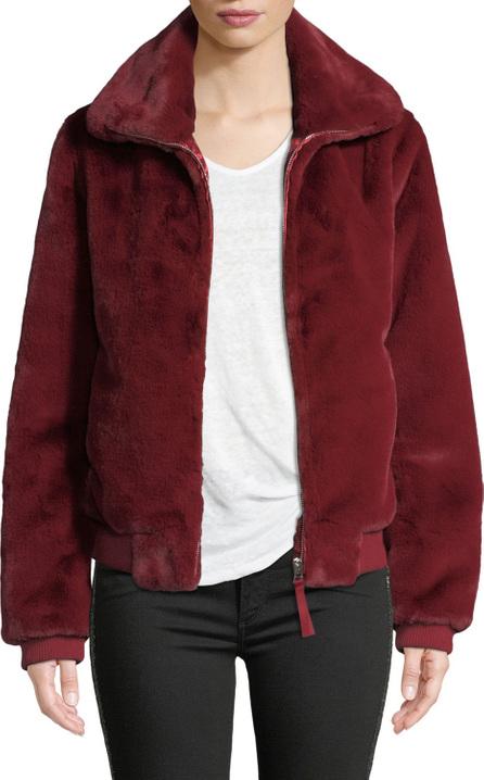 Generation Love Heidi Faux-Fur Zip-Front Bomber Jacket