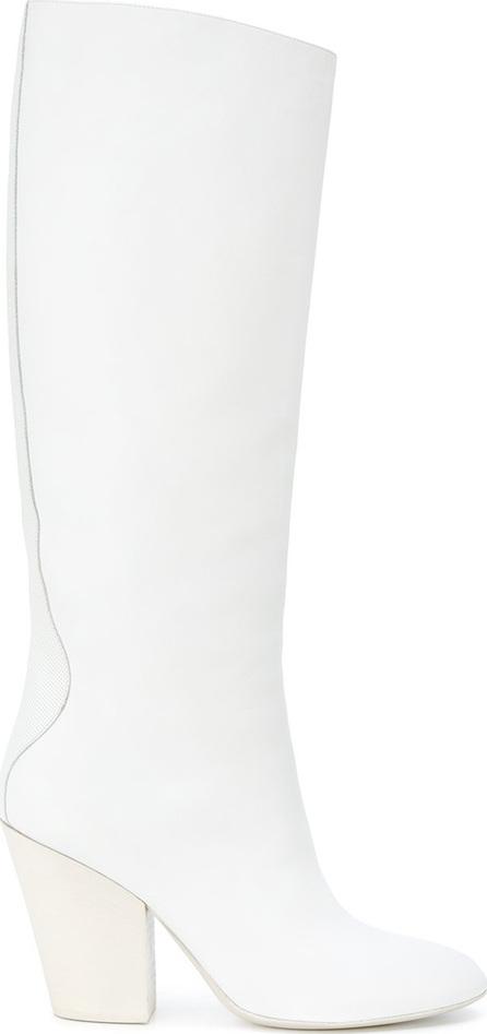 A.F.Vandevorst Contrast panel knee boots