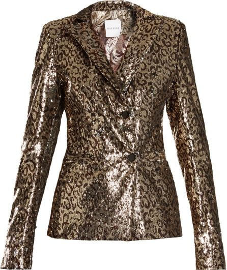 Halpern Sequin-embellished notch-lapel blazer