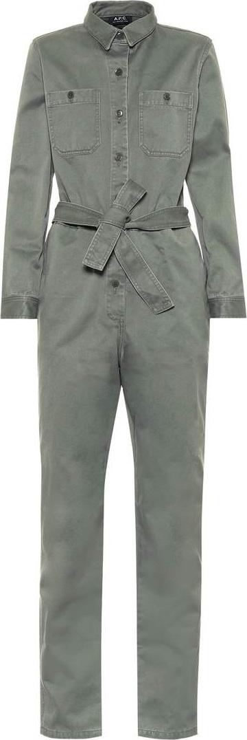 A.P.C. Zucca cotton gabardine jumpsuit