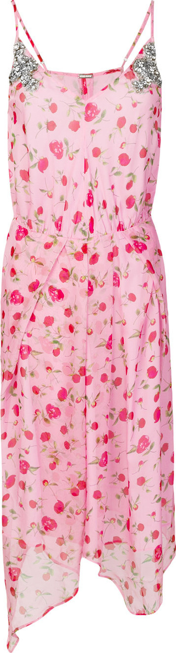 DODO BAR OR Rose print handkerchief hem dress