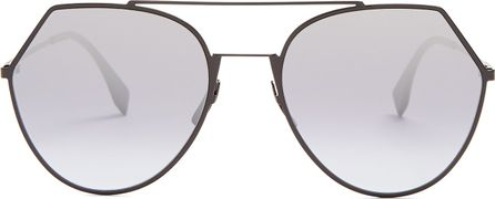 Fendi Aviator metal sunglasses