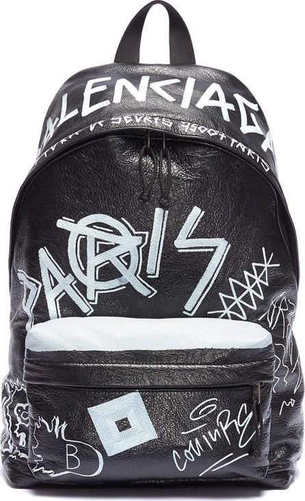 Balenciaga 'Explorer' graffiti print leather backpack