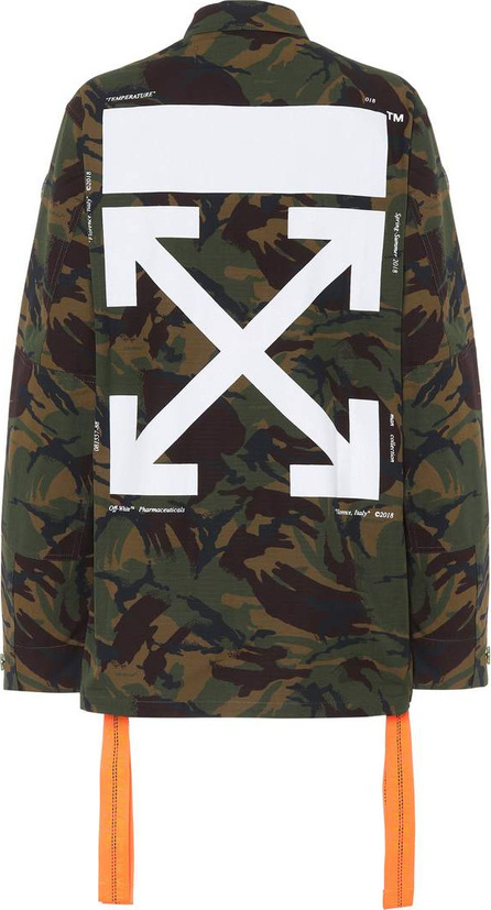 Off White Printed cotton camouflage jacket