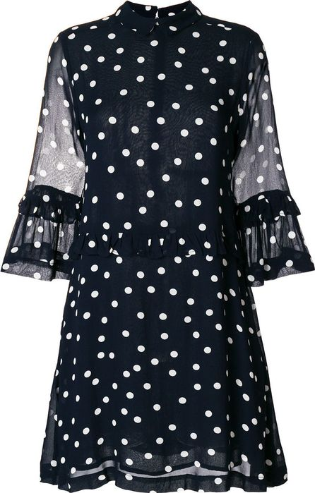 Ganni polka dot print dress