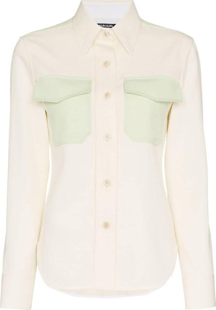 Calvin Klein 205W39NYC Contrast insert wool western shirt