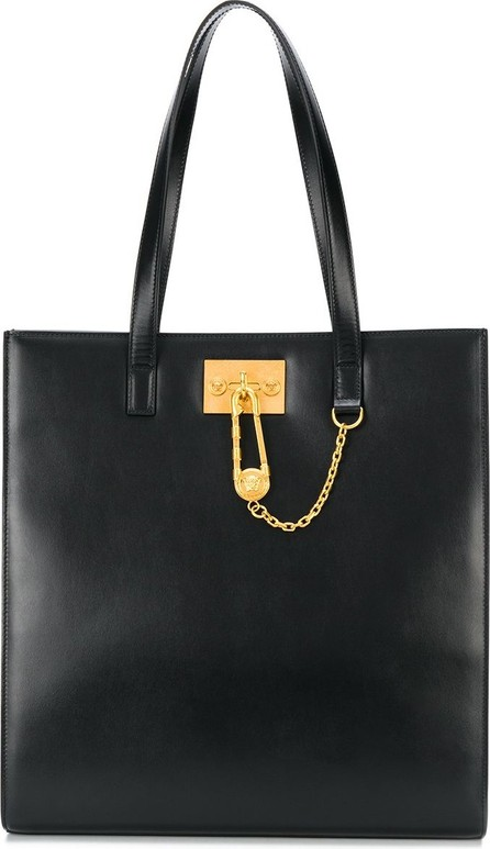 Versace Medusa chain leather tote bag