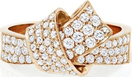 Carelle 18K Rose Gold & Pavé Diamond Knot Ring, Size 7