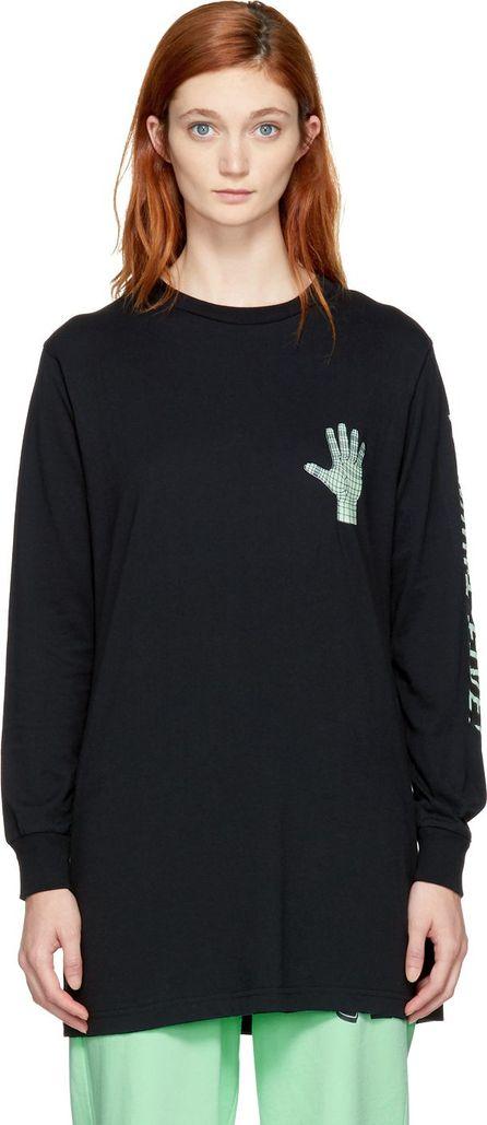 Ashley Williams SSENSE Exclusive Black 'Gimme Five!' T-Shirt Dress