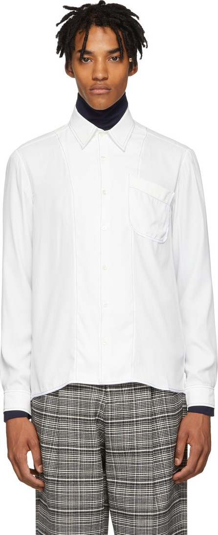 Daniel W. Fletcher White Contrast Stitch Shirt