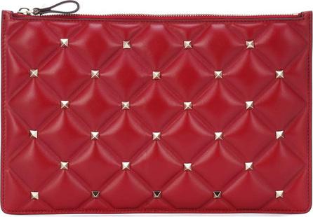 Valentino Valentino Garavani embellished leather pouch