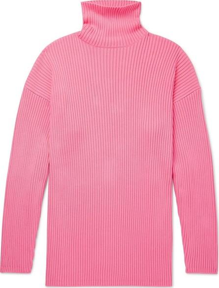 Balenciaga Oversized Ribbed Logo-Print Cotton Rollneck Sweater