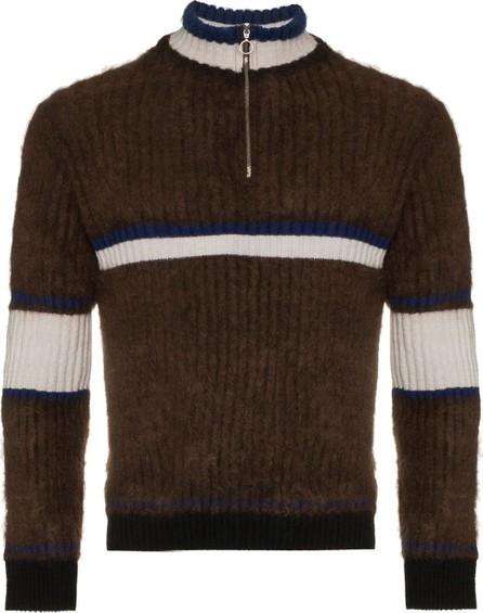Helen Lawrence Zip neck stripe merino wool jumper