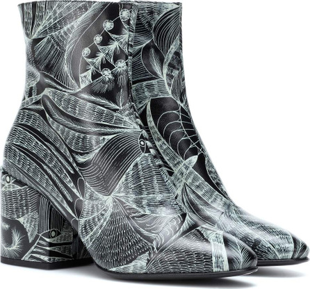 Dries Van Noten Printed leather ankle boots