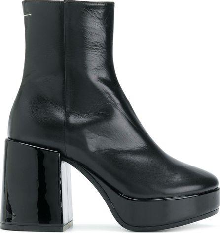MM6 Maison Margiela Zipped platform boots