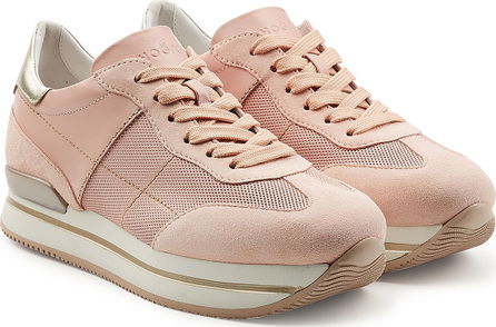 Hogan Platform Sneakers with Leather and Suede