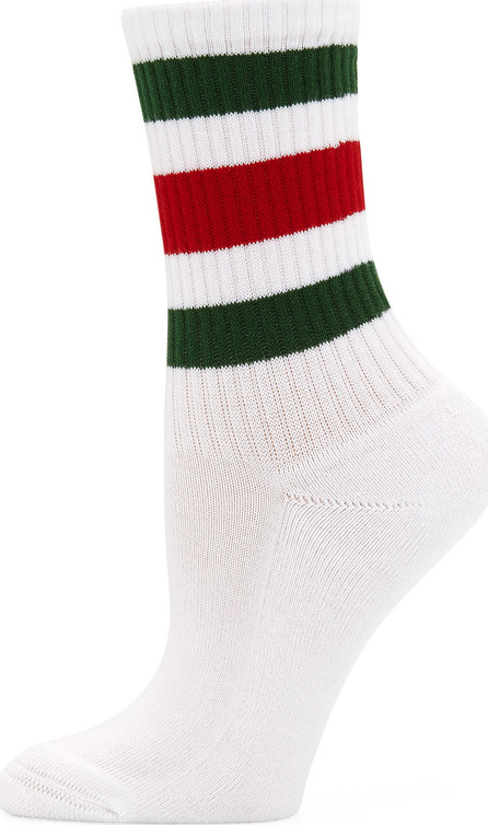 Gucci Little William Striped Web-Cuff Socks