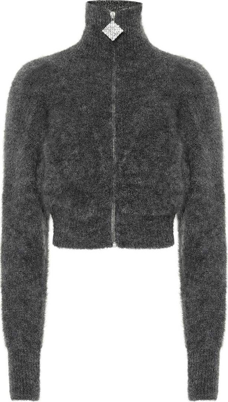 Alessandra Rich Zip-front mohair-blend cardigan