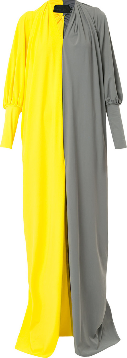 Greta Constantine Two tone front slit maxi dress