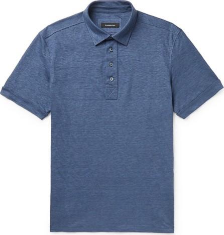 Ermenegildo Zegna Mélange Linen Polo Shirt