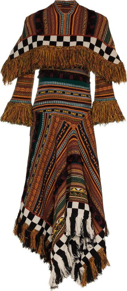 Etro Wool-blend handkerchief dress with poncho