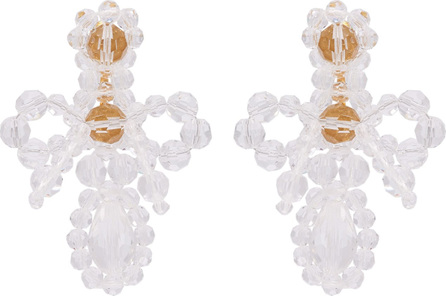 Simone Rocha Cross crystal drop earrings