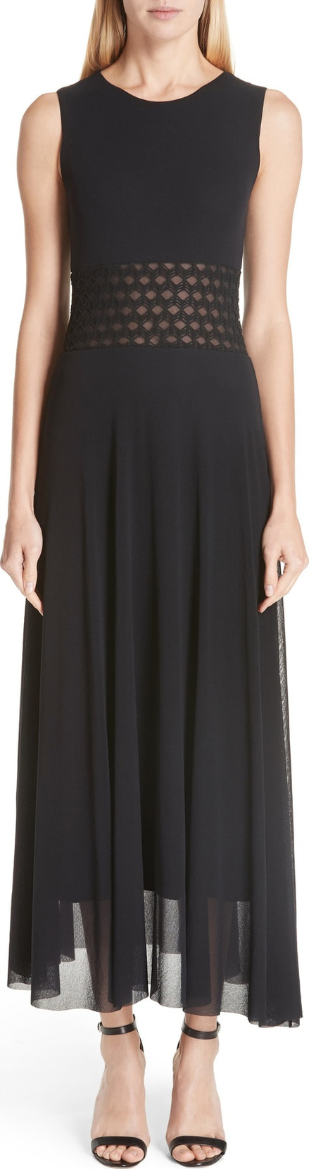 Fuzzi Cutout Waist Maxi Dress