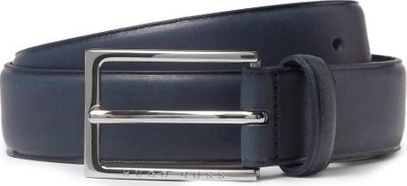 HUGO BOSS 3.5cm Navy Ceddy Leather Belt