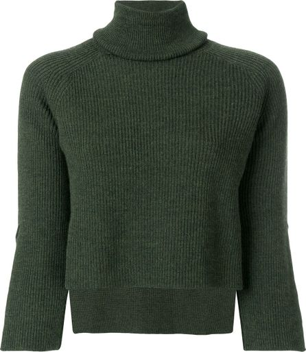 Federica Tosi turtleneck ribbed knitted blouse