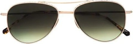 GARRETT LEIGHT Tortoise aviator sunglasses