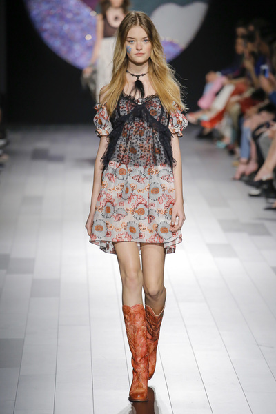 Anna Sui Spring 2018 Ready-to-Wear - Look #24
