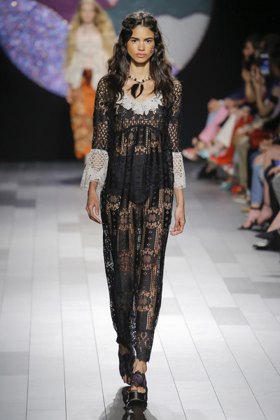 Anna Sui Spring 2018 Ready-to-Wear - Look #34