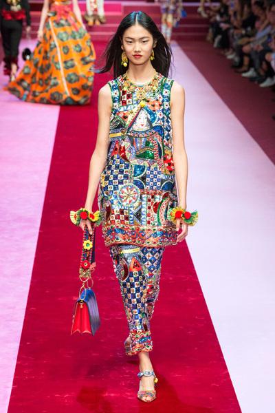Dolce & Gabbana Spring 2018 Ready-to-Wear - Look #104
